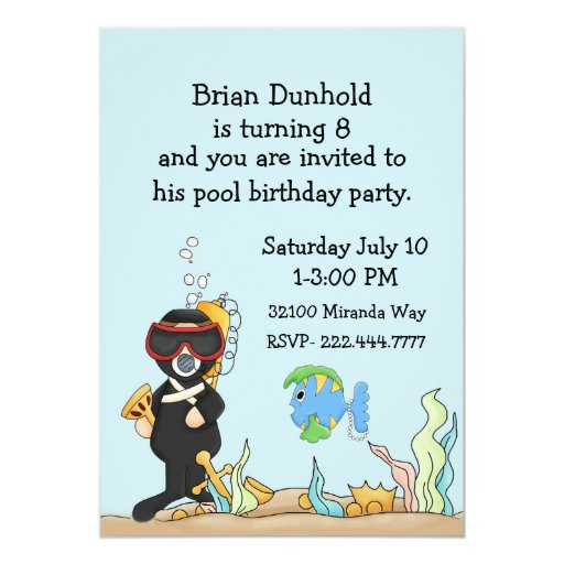 Birthday Invitation Card Design Kids