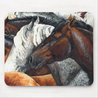 Kindred Spirits - Horse Herd Mouse Pad mousepad
