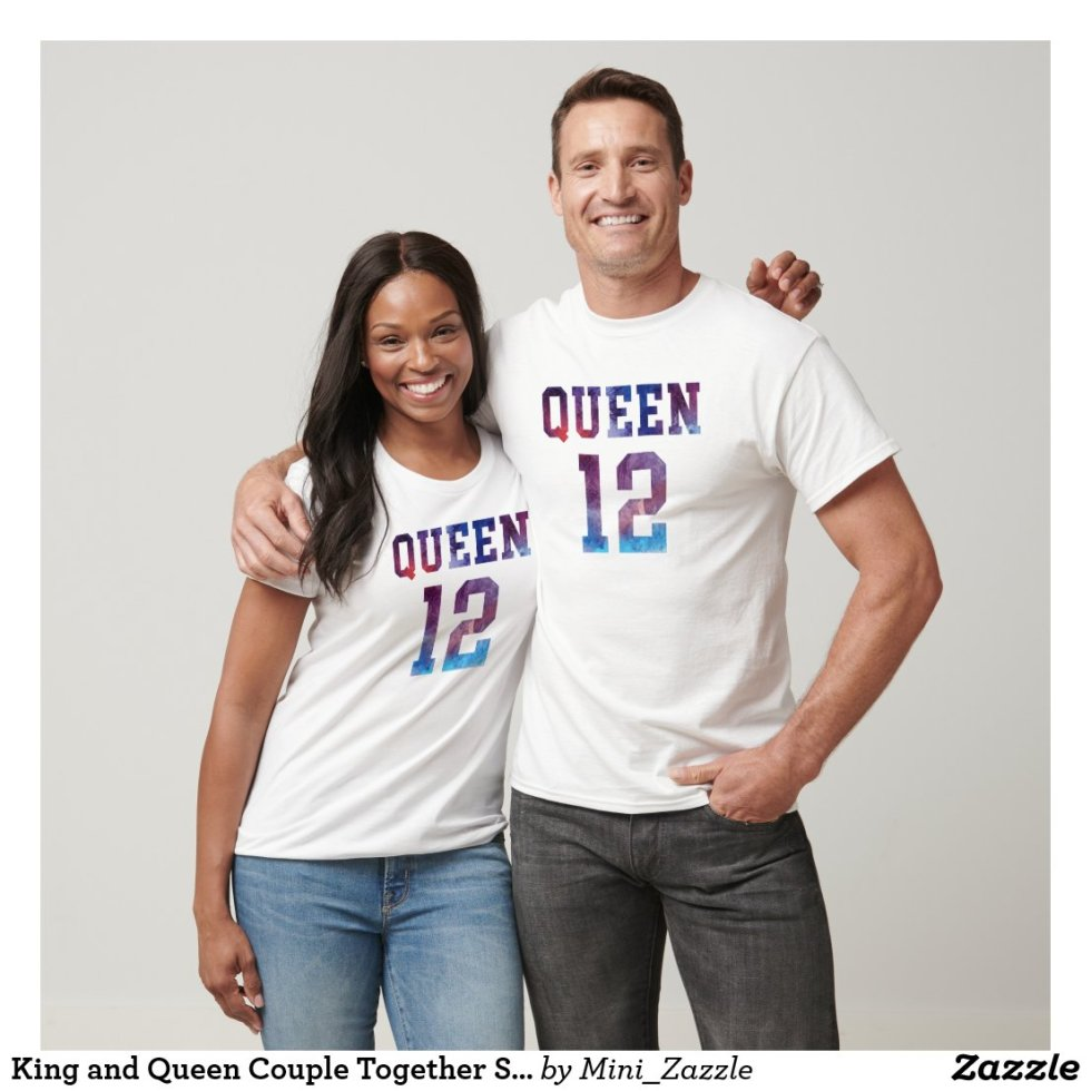 King and Queen Couple Together Since 2012 T-Shirt