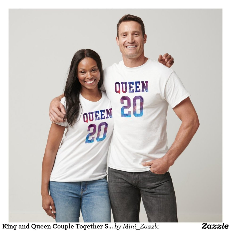 King and Queen Couple Together Since 2020 T-Shirt