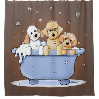 KiniArt Bath Doods Shower Curtain