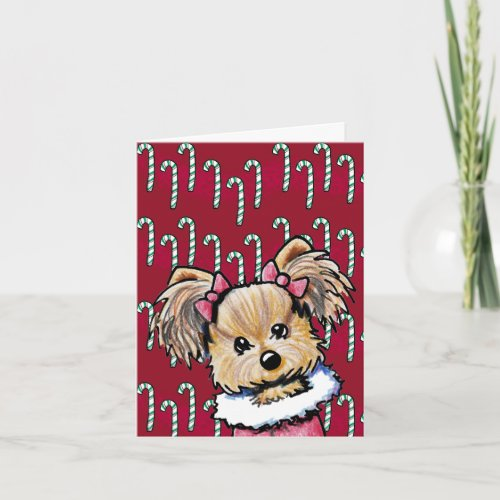 KiniArt Yorkie Card card