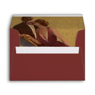 Kissing on the Chaise-Longue Valentine Envelope