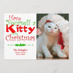 Kitty Christmas Holiday Pet Photo Card