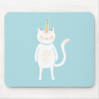 Kitty Unicorn Mouse Pad