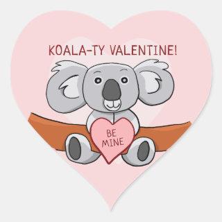 Koala Koality Be Mine Valentine Heart Sticker