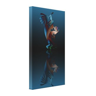 Kokopelli Gets Down Wrapped Canvas Stretched Canvas Prints