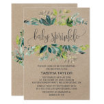Kraft Foliage Baby Sprinkle Invitation