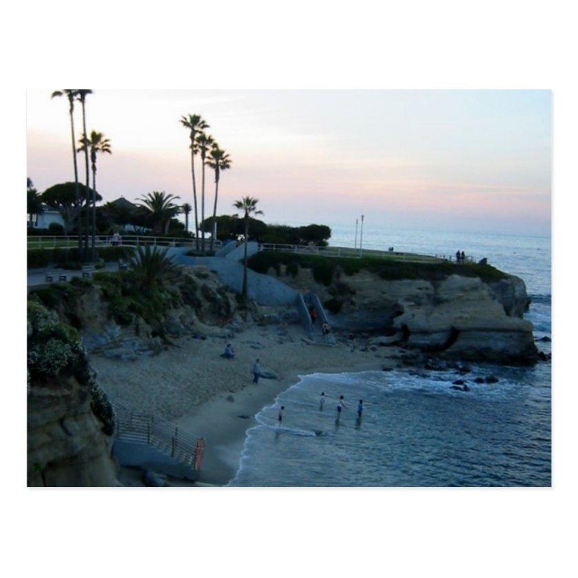 La Jolla Beach Sunset Custom California Postcard