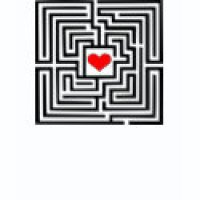 Maze Puzzle Geeks T-Shirts & Gifts - Maze Heart