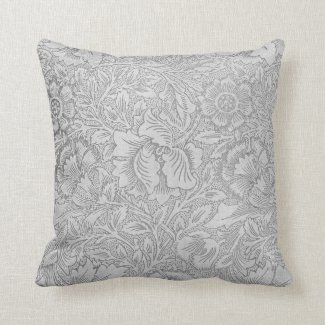 Lace Wallpaper Monochrome Pillows