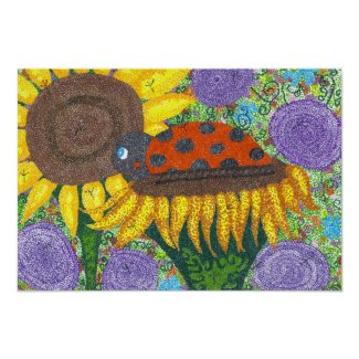 Lady Bug Afternoon Poster