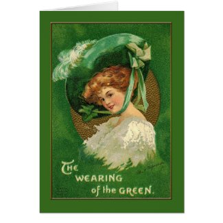 Lady Wears the Green for St Patrick