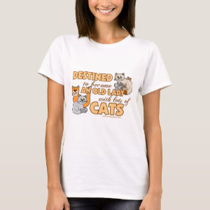 Lady With Lots of Cats Humor T-Shirt