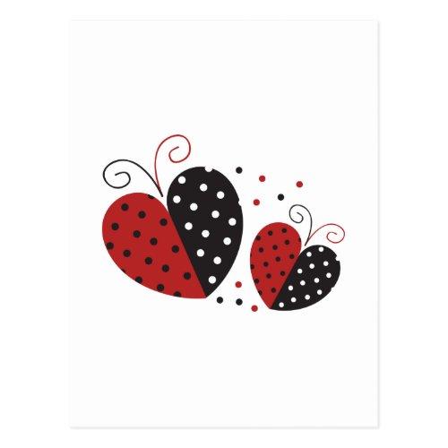 Ladybug Heart cute Postcard
