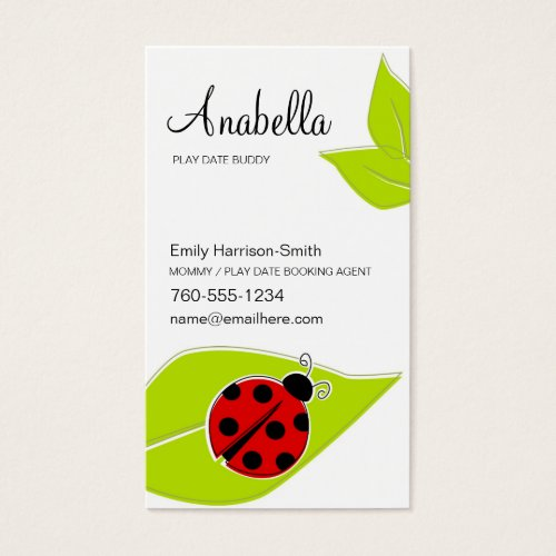 Ladybug Play Date Cards