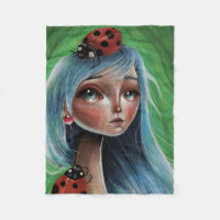 LadyBug Pop Surrealism Illustration Blanket