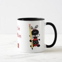 Ladybug With Ruler Teacher Mug