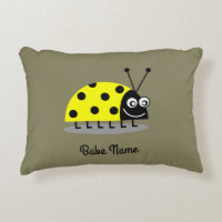 Ladybug Yellow Accent Pillow