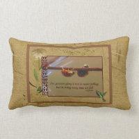 Ladybugs Perseverance Inspirational Lumbar Pillow