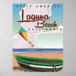 Laguna Beach California Vintage Travel Poster