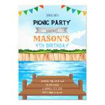 Lake party birthday invitation