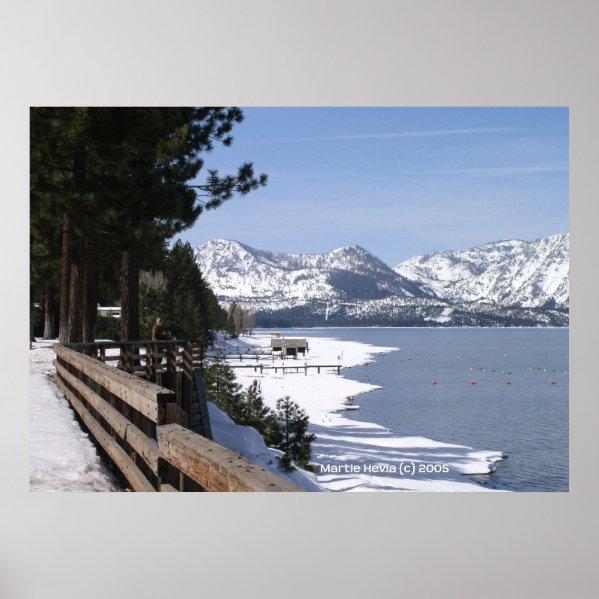 Lake Tahoe in Snow print