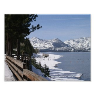 Lake Tahoe in Snow Poster