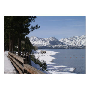 Lake Tahoe in Snow Poster