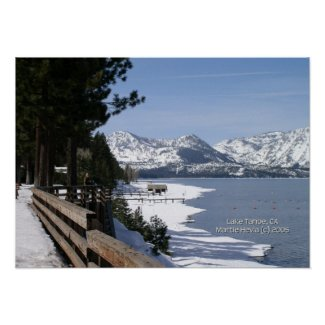 Lake Tahoe Print - Select Your Frame print
