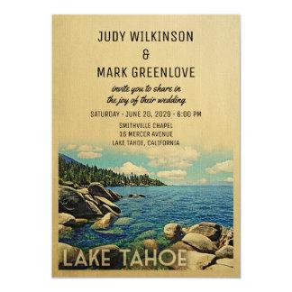 Lake Tahoe Wedding Invitation Vine Mid Century