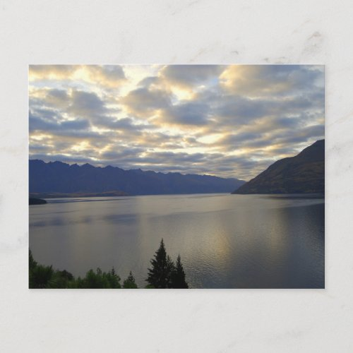 Lake Wakatipu, Queenstown, NZ postcard