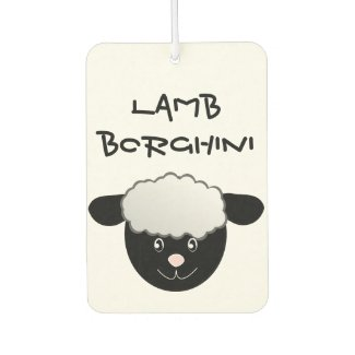 Lamb Borghini funny Sheep Pun Car Air Freshener