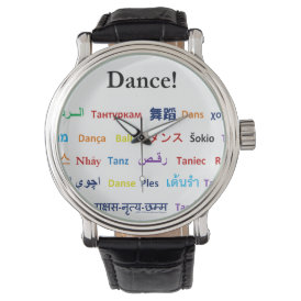 Language of Dance!  Words for Dance Worldwide Wristwatch