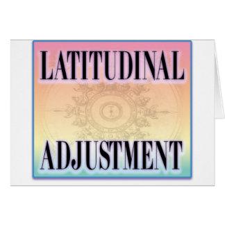 """""""Latitudinal Adjustment"""" Card"""