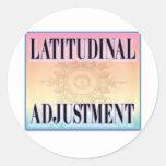 """Latitudinal Adjustment"" stickers"