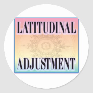 """Latitudinal Adjustment"" Sticker"