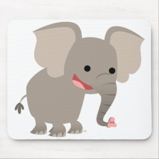 Laughing Cartoon Elephant Mousepad mousepad