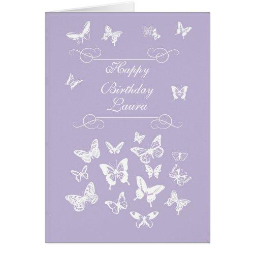 Laura Butterflies Happy Birthday Irish Blessing