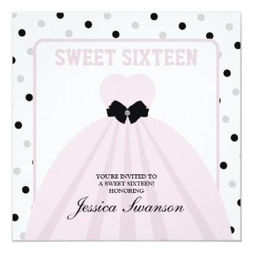 Lavender Blush Gown Sweet Sixteen with diamond bow Card