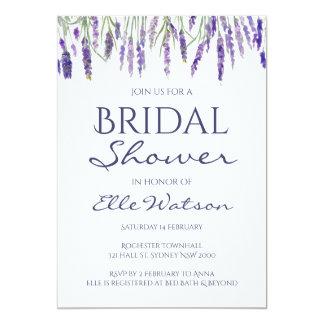 Lavender Bridal Shower Invitation Wedding Card