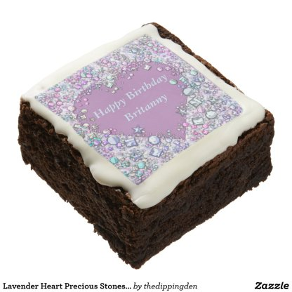 Lavender Heart Jewelled Brownies