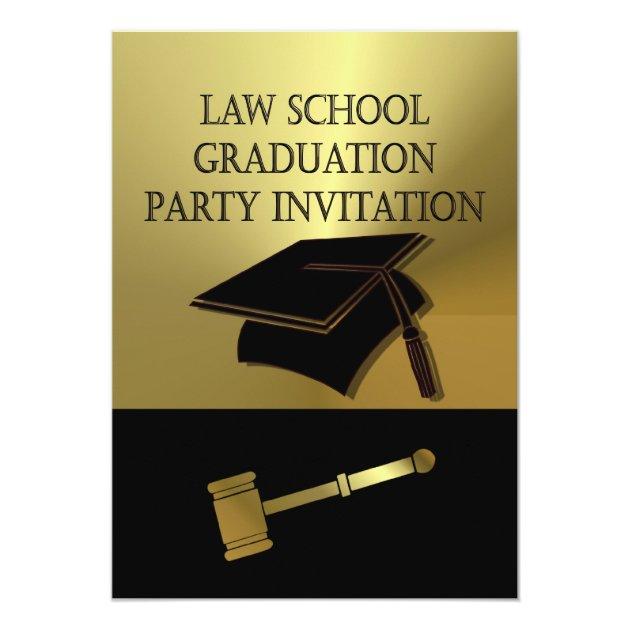 Law School Graduation Party Invitation Scales Book