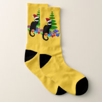 Le Chat Noir Christmas Socks