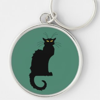 Custom Color Black Cat Keychains