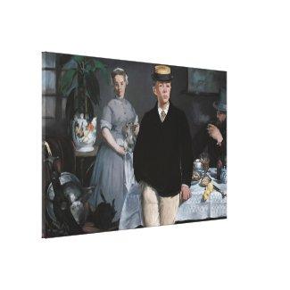 Le Déjeuner dans l'atelier by Édouard Manet Gallery Wrap Canvas