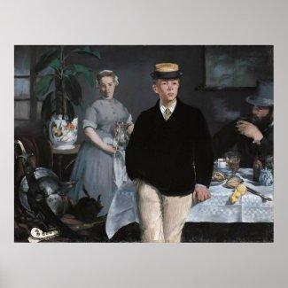 Le Déjeuner dans l'atelier by Edouard Manet Posters
