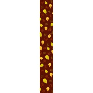 Leaves and swirls - Tie