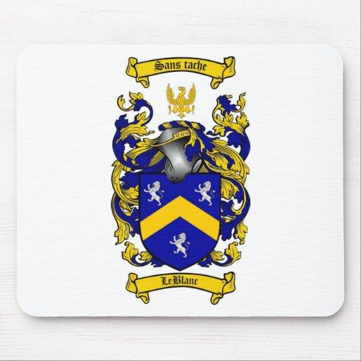 leblanc family crest leblanc coat of arms mouse pad zazzle