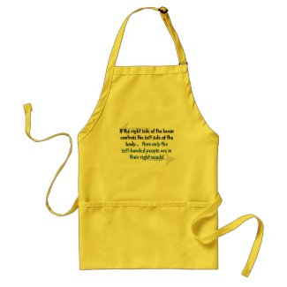 Left-handed people apron